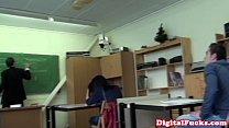 Taissia Shanti pounded in the classroom