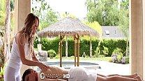Fantasyhd - Hot Blonde Alexis Adams Massages A Cock