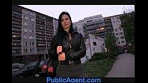 PublicAgent Krystina bends over for a wallet fu...
