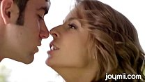 romantic swalloing of cum by young model