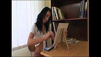 Hot schoolgirl spanked by her dirty teacher!