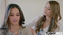 TUSHY Two Pretty Teens Seduce One of Their Sisters Boyfriend porn videos