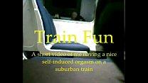 Guy Having Fun On A Train
