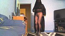 en collant et niqab