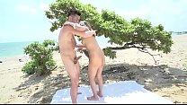 japan girl hikari minami was 3some on the beach