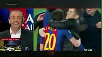 اللقطة التي أخفتها الكاميرات في مباراة برشلونة و باريس سان جيرمان ! - إحتفال ميس thumbnail