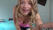 Трахнул блондинку с красивой грудью порно видео