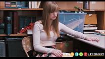 Blonde Teen Caught Shoplifting porn videos