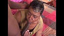 Ebony grandma loves big black cock