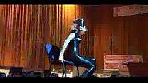 Blonde stripper on stage teas