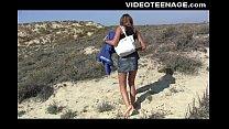 brunette teen nudist at beach porn videos