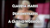Huge Tit Claudia Marie Demonstrates Cardio Trai...