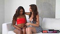 Stepmom Syren Demer licks dark skinned latina teen pussy