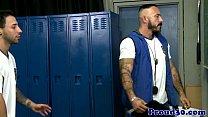 Muscular coach assfucking sporty inked jock