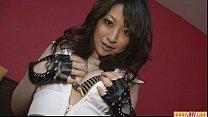 Brunette Asian girl Asuka Mimi fondled and fucked hard thumbnail