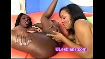 Young black beauty fingerfucks slutty lesbian e...