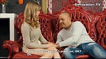 Big guy seduces a blonde virgin thumbnail