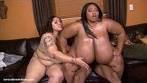 Sexy BBWS Anastasia and Cotton Candi Share A Dick