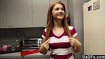 redheaded teen gives perfect blowjob
