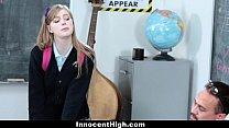 InnocentHigh- Cute Redhead fucks her teacher porn videos