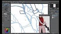 Hentai Speed Painting #01 - Naruto x Hinata porn videos