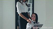 A long legged teacher gets feeldoe pounding porn videos