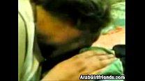 Sassy Arab girlfriend sucks dick and gets cream...
