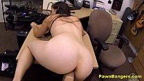 Brunette Milf Takes Huge Cock In Desk Fuck
