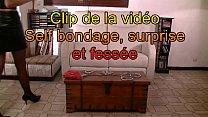 Clip Self bondage et fessee