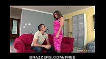 Incredibly HOT big-boob brunette MILF in fishnets fucks big-dick porn videos