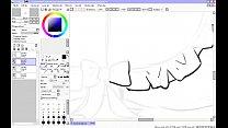 Hentai speed drawing - part 2 - inking