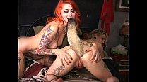 tattooed cuties anal antics foxtail butt plug hurts so good longest upload