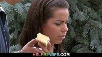 Juicy young wife enjoys cuckolding