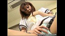 Futanari Teen Licks Own Cock!
