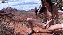 eroberlin zoe rush skinny teen outdoor pissing monument valley long hair cutie