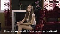 Defloration casting - cute Anastasia shows virgin pussy thumbnail