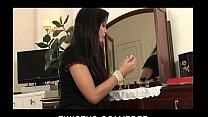 HOT brunette babe Alyssia strips & finger-fucks herself to orgasm porn videos