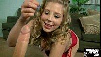 teen blonde handjob