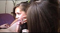 Zuzinka teaches a girl how to fuck and suck
