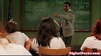 teacher fucks student sorority Creampied