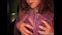 Hikaru Wakabayashi in purple doing sexy dance w...