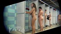 Peeping in the women's shower room porn videos