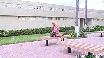 blonde cutie Cassy Lynn gets her meaty pussy ra...