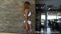 Ebony Freak Chanell Heart Gives A Seductive Teaze