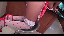 Asian shemale with stockings gets fucked