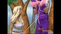 Kinky stud in a costume has some naughty fun wi...