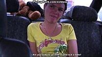 brunette sucks in the car