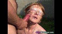 outdoor granny facialized