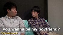 Asian twinks jerk and cum