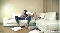 Lesbian sex with a strapless dildo on straplessdildo.hugescock.com porn videos